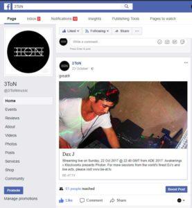 Facebook Eintrag Dax J